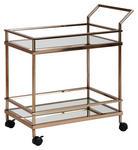 SERVIERWAGEN in Goldfarben  - Goldfarben, Design, Glas/Kunststoff (65,5/84/45cm) - Carryhome