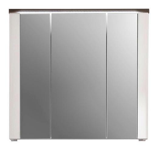 SPIEGELSCHRANK Braun, Weiß - Braun/Weiß, Design, Glas/Holzwerkstoff (80/75/20cm) - Xora
