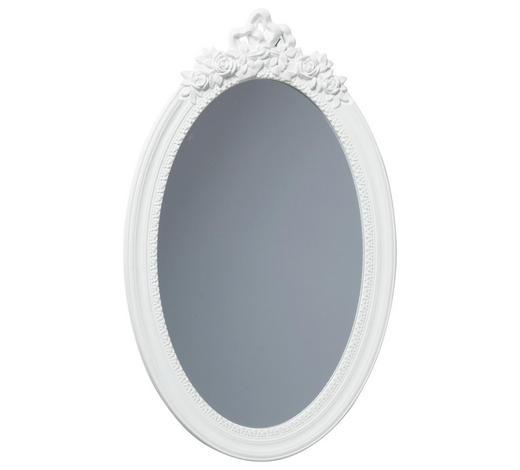 WANDSPIEGEL - Weiß, Trend, Glas/Holzwerkstoff (39,5/64,5cm) - Ambia Home