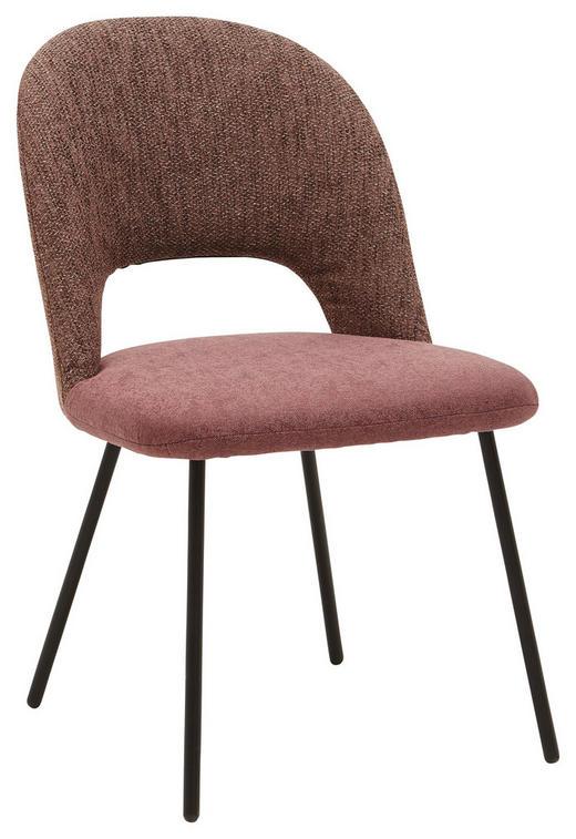STUHL in Metall, Textil Braun, Schwarz, Bordeaux - Bordeaux/Schwarz, Design, Textil/Metall (53/89/65cm) - Dieter Knoll