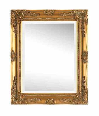 ZRCADLO - barvy zlata, Lifestyle, dřevo (40/50/3,3cm) - Landscape