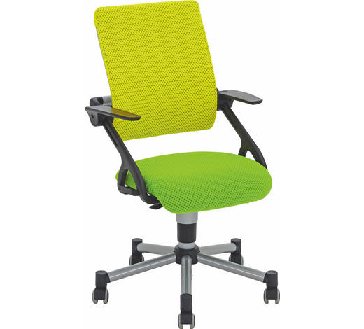 OTOČNÁ ŽIDLE, žlutá, světle zelená,  - světle zelená/žlutá, Basics, kov/textil (42cm) - Paidi