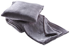 KUSCHELSET 150/200 cm Silberfarben  - Silberfarben, LIFESTYLE, Textil (150/200cm) - Novel