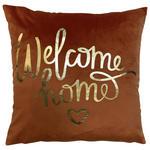 Zierkissen Welcome Home - Orange, MODERN, Textil (45/45cm) - Luca Bessoni