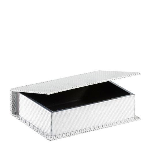 BÜCHERBOX Holz, Kunststoff Weiß - Weiß, Holz/Kunststoff (23/17/6cm) - Ambia Home