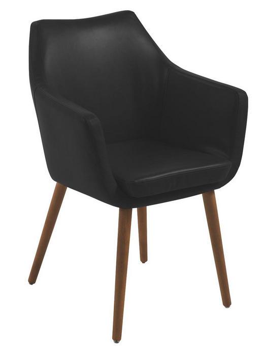 ŽIDLE S PODRUČKAMI, černá, - černá, Konvenční, dřevo/textilie (58/84/58cm) - Carryhome