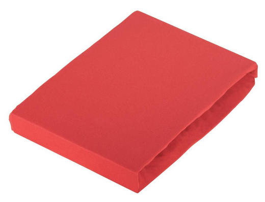 BOXSPRING-SPANNLEINTUCH - Rot, Basics, Textil (180-200/220cm) - Novel