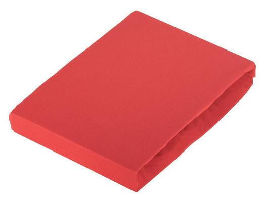 SPANNBETTTUCH Jersey Kirschbaumfarben bügelfrei - Kirschbaumfarben, Basics, Textil (100/200cm) - Novel