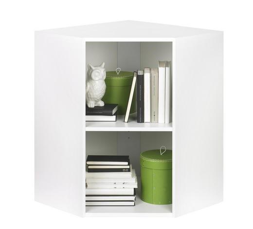 ROHOVÝ REGÁL, bílá - bílá/černá, Design, kompozitní dřevo/umělá hmota (59,5/76,8/59,5cm) - Carryhome