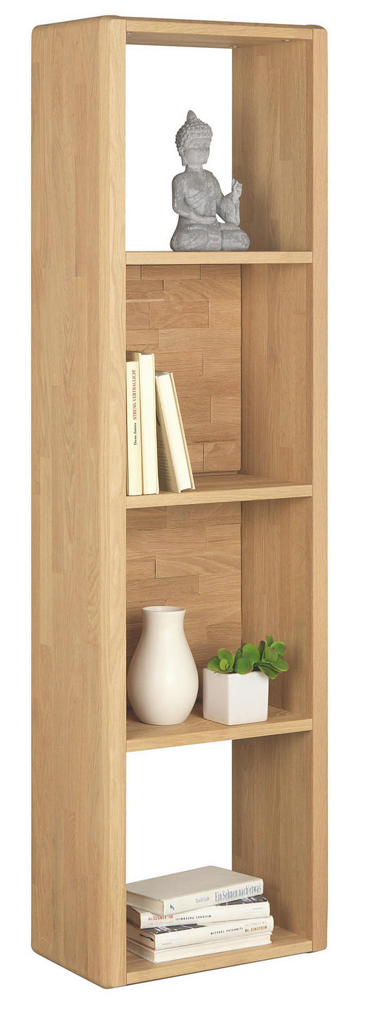 REGAL Wildeiche vollmassiv Eichefarben - Eichefarben, Design, Holz (42/152/25cm) - VALDERA