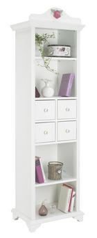REGÁL - bílá, Konvenční, dřevěný materiál/umělá hmota (56,3/192/43cm) - XORA