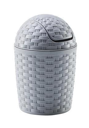 PAPPERSKORG MED VIPPLOCK - grå, Basics, plast (1,2l) - Plast 1