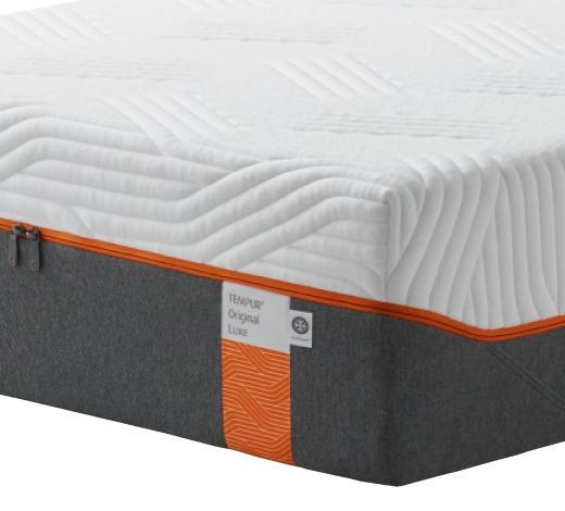 MATRATZE ORIGINAL LUXE 180/200 cm - Weiß/Grau, Basics, Textil (180/200cm) - Tempur