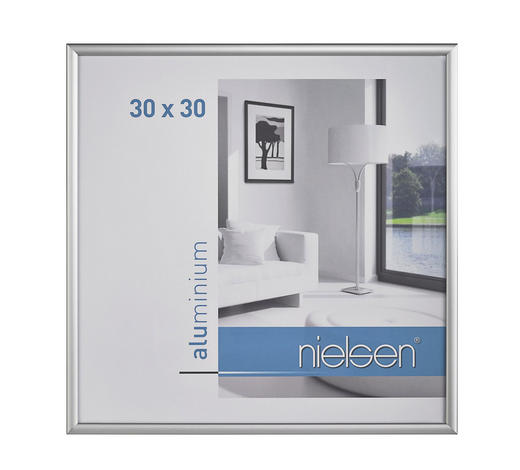 BILDERRAHMEN  Silberfarben - Silberfarben, Basics, Metall (30/30cm) - Nielsen
