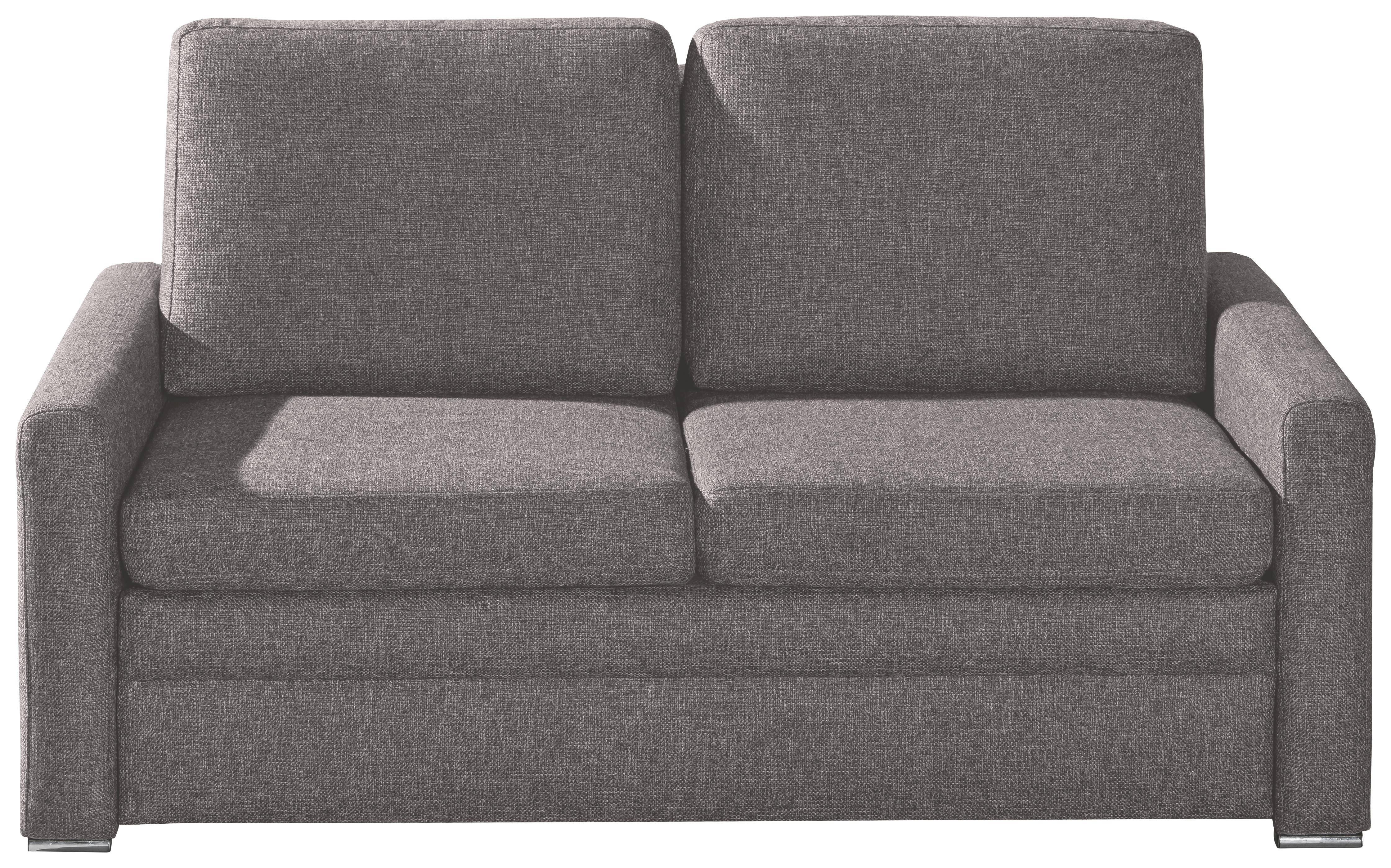 SCHLAFSOFA Webstoff Grau - Chromfarben/Grau, KONVENTIONELL, Textil/Metall (153/83/90cm) - NOVEL