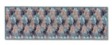 LÄUFER - Blau/Beige, KONVENTIONELL, Textil (50/150cm) - Esposa