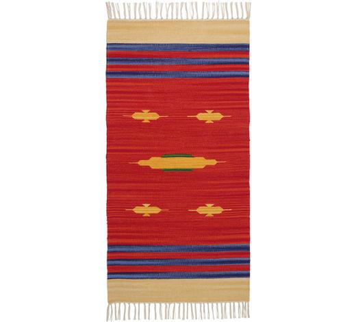 FLECKERLTEPPICH 50/80 cm - Rot, LIFESTYLE, Textil (50/80cm) - Boxxx
