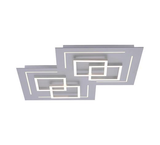 LED-DECKENLEUCHTE - Silberfarben, Design, Metall (60/60/6,5cm)