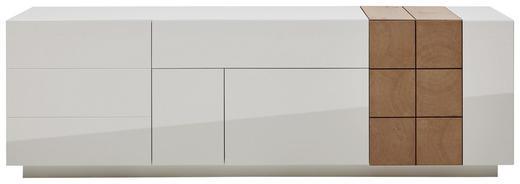 SIDEBOARD Eiche furniert lackiert Eichefarben, Weiß - Eichefarben/Weiß, Design, Holz/Holzwerkstoff (210/66/52cm) - Ambiente