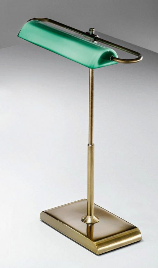 TISCHLEUCHTE - Grün, LIFESTYLE, Glas/Metall (30/40/18cm)