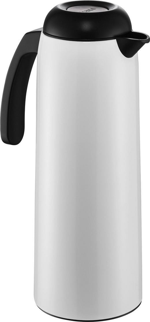 ISOLIERKANNE 1 L - Schwarz/Weiß, Basics, Glas/Kunststoff (11/29,5cm) - Wesco