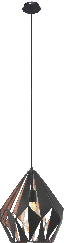 HÄNGELEUCHTE - Schwarz/Kupferfarben, LIFESTYLE, Metall (31/110cm) - MARAMA