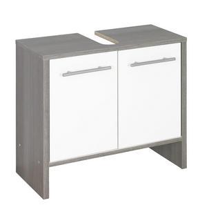 TVÄTTSTÄLLSUNDERSKÅP - vit/alufärgad, Design, träbaserade material/plast (62/55/28cm) - Low Price