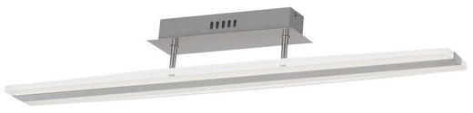 LED-DECKENLEUCHTE - Chromfarben, Design, Kunststoff/Metall (90/10cm)