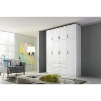 ORMAR S KLASIČNIM VRATIMA - bijela/boje srebra, Design, drvni materijal/plastika (185/231/56cm) - Carryhome
