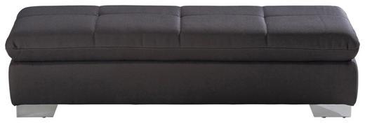HOCKER Flachgewebe Anthrazit - Chromfarben/Anthrazit, Design, Textil (156/41/74cm) - Xora