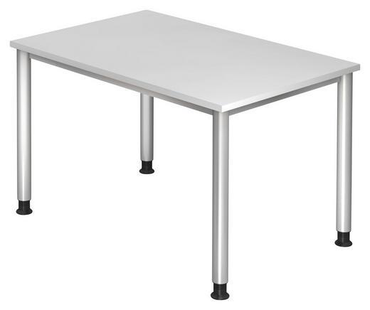 SCHREIBTISCH - Silberfarben/Grau, KONVENTIONELL, Holzwerkstoff/Metall (120/68 (76)/80cm)