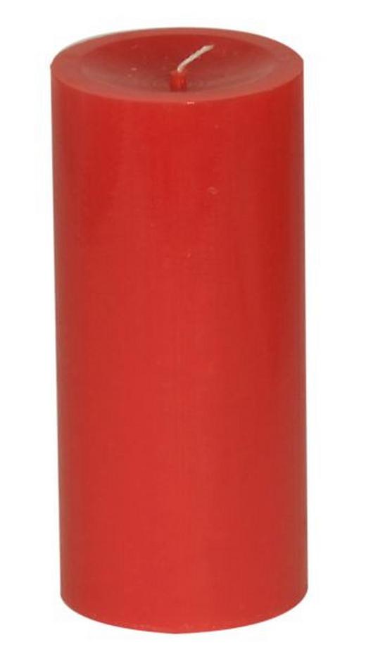 STUMPENKERZE - Rot, Basics (6,8/15,cm) - Ambia Home