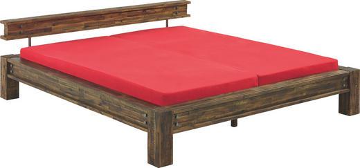 BALKENBETT Akazie massiv 160/200 cm - Braun/Akaziefarben, Design, Holz (160/200cm) - Hasena