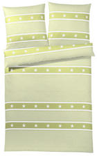 BETTWÄSCHE Makosatin Limette 135/200 cm - Limette, Basics, Textil (135/200cm)
