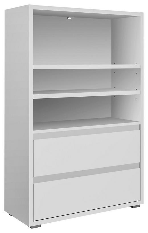 REGALELEMENT Weiß - Silberfarben/Weiß, KONVENTIONELL (85/131/37cm) - Carryhome