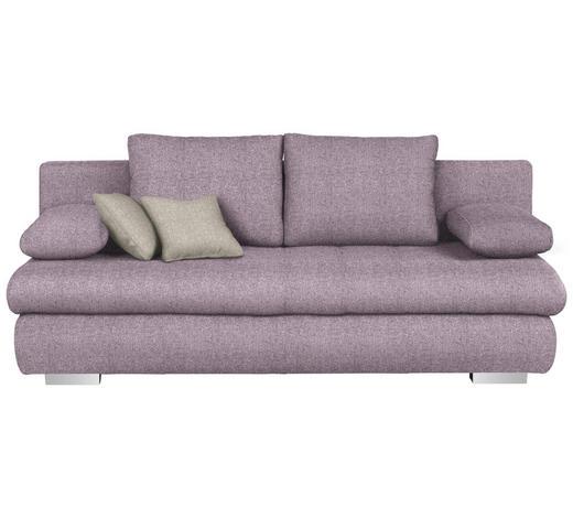 SCHLAFSOFA in Textil Flieder - Chromfarben/Flieder, Design, Kunststoff/Textil (205/88/96cm) - Ti`me