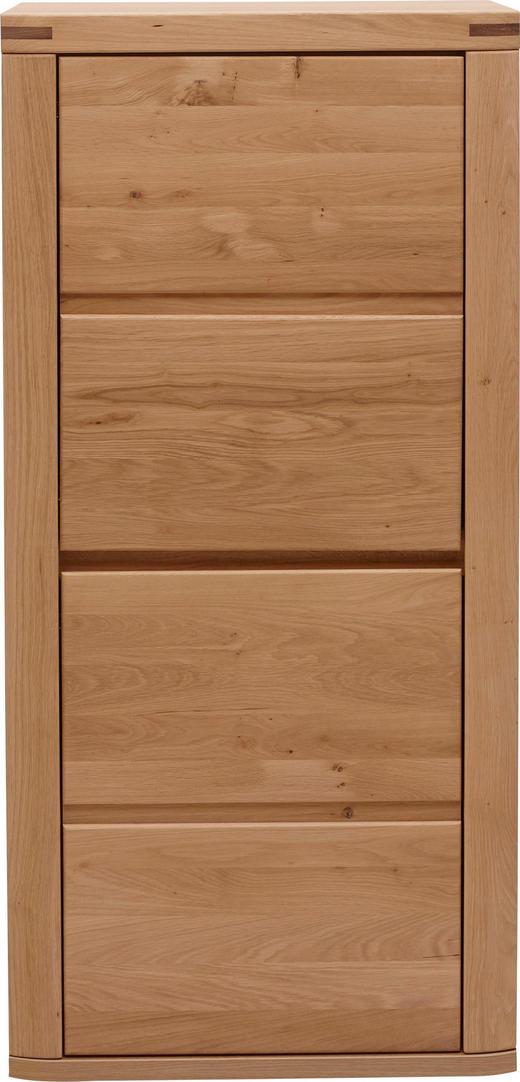 HIGHBOARD Eiche furniert, massiv foliert, geölt Eichefarben - Eichefarben, KONVENTIONELL, Holz/Holzwerkstoff (66,4/139,6/37,7cm) - Voleo