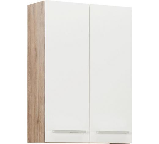 ZÁVĚSNÁ SKŘÍŇKA, barvy dubu - bílá/barvy dubu, Design, kov/kompozitní dřevo (50/70/20cm) - Xora