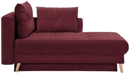 LIEGE in Textil Weinrot - Eichefarben/Weinrot, KONVENTIONELL, Holz/Textil (166/96/104cm) - Venda