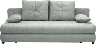 SCHLAFSOFA in Textil Silberfarben - Silberfarben/Schwarz, Design, Kunststoff/Textil (208/73-90/102cm) - Hom`in