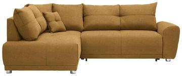 WOHNLANDSCHAFT in Textil Gelb  - Gelb/Silberfarben, KONVENTIONELL, Kunststoff/Textil (205/260cm) - Carryhome