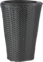 KVĚTINÁČ - černá, Basics, kov/umělá hmota (28/28/60cm) - AMBIA GARDEN