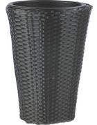 KVĚTINÁČ - černá, Basics, kov/umělá hmota (28/40cm) - Ambia Garden