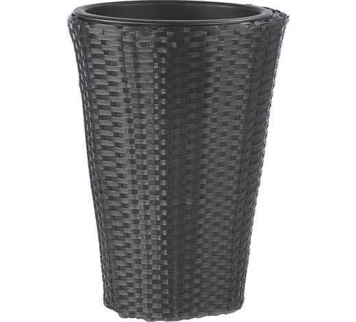 PFLANZENTOPF - Schwarz, Basics, Kunststoff/Metall (28/40cm) - Ambia Garden