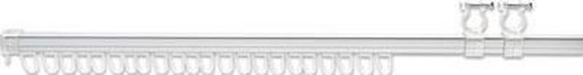 Storeschiene Chrom Matt - Chromfarben, KONVENTIONELL, Kunststoff/Metall (220cm) - Ombra