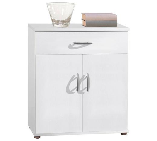 KOMMODE Weiß  - Silberfarben/Weiß, Design, Holzwerkstoff/Kunststoff (60/70/30cm) - Carryhome