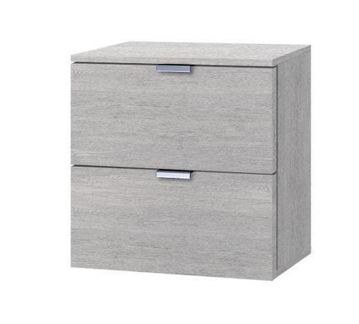 KOMMODE Eichefarben  - Eichefarben/Alufarben, KONVENTIONELL, Metall (40/42/42cm) - Carryhome