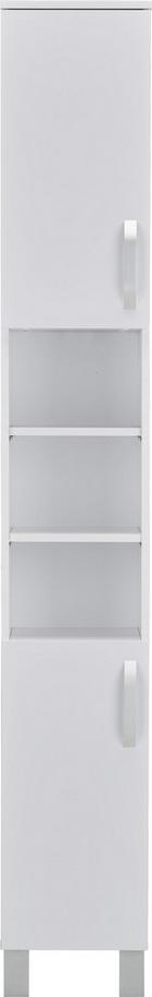 VISOKI ELEMENT - bijela/boje aluminija, Design, drvni materijal/metal (31/204/31cm)