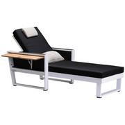 LEŽALJKA - bijela/crna, Design, drvo/metal (200/80/97cm) - AMBIA GARDEN