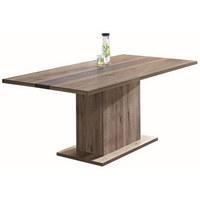 JEDILNA MIZA, hrast hrast  - hrast, Design, leseni material (180/74/90cm) - Venda
